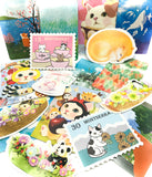 kawaii postcard postcards bundle 4 cats cat lucky dip cute animals