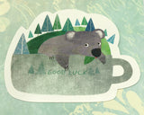 koala bear in mug cute teacup postcard post card cards uk kawaii stationery store pretty animal animals