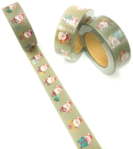 festive santa claus 10m washi tape roll father christmas