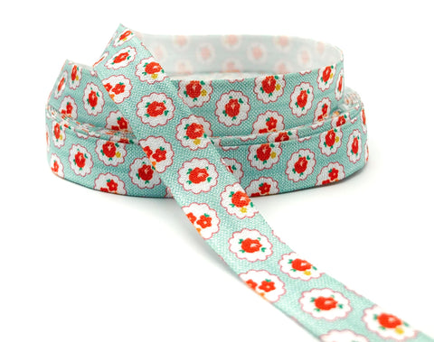 Shabby Chic Floral Elastic Ribbon 15mm