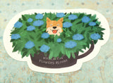 dog in flowers cute teacup postcard post card cards uk kawaii stationery store pretty animal animals