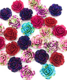 large rose 20mm resin flower fb flat backs uk craft supplies flowers embellishments