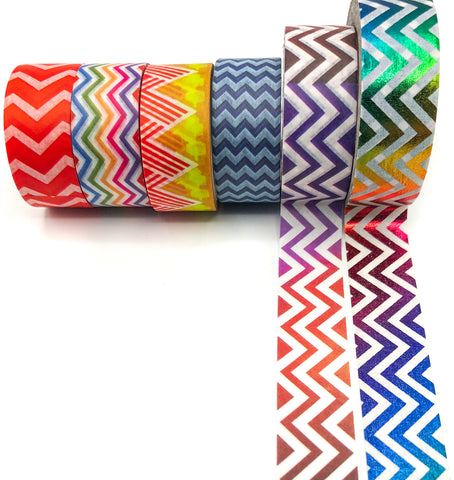 chevron and zig zag washi tape tapes waves rainbow chevrons uk stationery