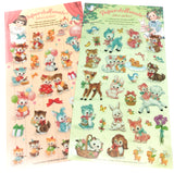 cute baby animals vintage style sticker stickers clear pvc rabbit cat deer duck bird