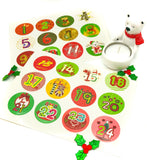 make your own advent calender calendar with sticker numbers numbers days of december sheet stickers