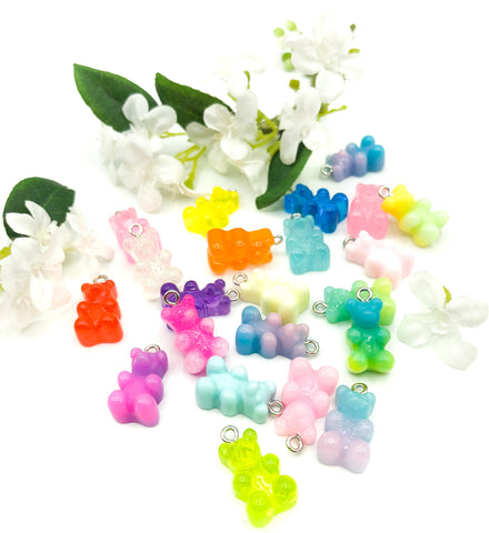 gummy bear bears 20mm charm resin charms