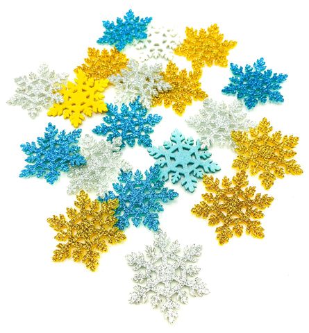 snowflake glitter felt patch applique snowflakes snow flake turquoise silver gold uk craft supplies cute kawaii xmas christmas