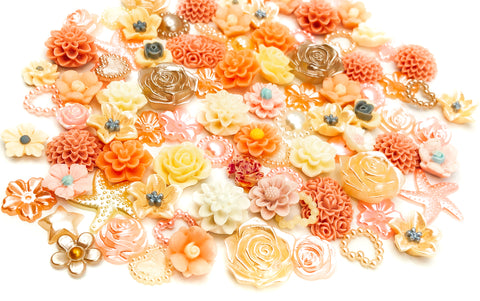 peaches and cream fb flat back acrylic resin bundle of 20 fbs embellishments uk craft supplies