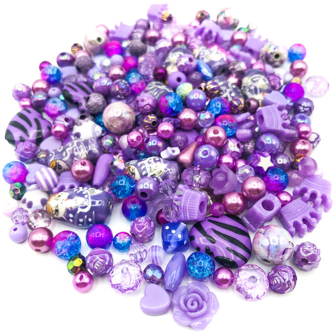 Purple & Lilac Beads Bundle of 40