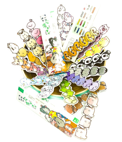 cute kawaii animal tower card bookmark bookmarks animals box 30