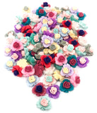 roses flat backs fbs 12mm mixed colours pretty rose flatback resin