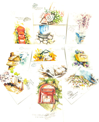 happy post bundle box uk kawaii stationery bundles greeting cards envelopes postcards lomo cards stickers free postage