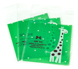 cello cellophane bags cute green giraffe giraffes for you kawaii packaging bag self seal uk