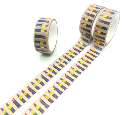 lipstick lipsticks lip stick foil gold foiled washi tape 5m uk cute kawaii stationery store tapes