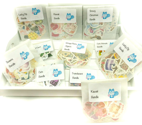sticker flake bargain bundle stickers bundles flakes stationery planner lover