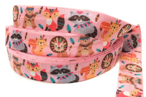 raccoon fox bear lion squirrel animal elastic ribbon kawaii elastics ribbons woodland animals