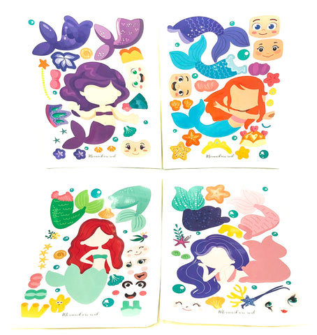 build you own make activity sticker stickers for kids craft uk stationery cute mermaid mermaids kawaii