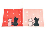 cello cellophane bags cute cat cats pink and red hearts kawaii packaging bag self seal uk