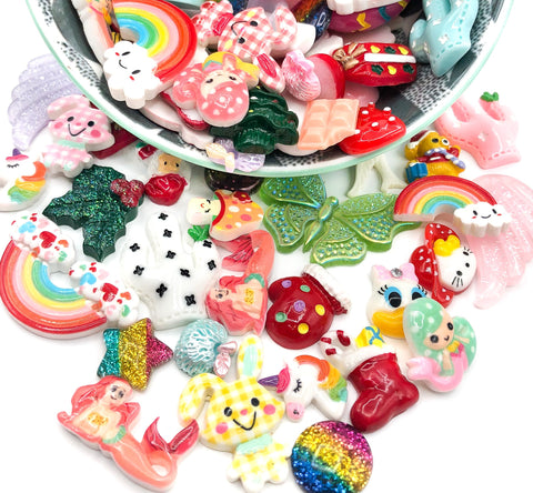 resin lucky dip fb flat back bundle kawaii embellishments uk decoden cute craft supplies embellishment cabochon cabochons bundles bargain flatbacks