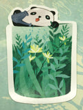 panda in leaves cute teacup postcard post card cards uk kawaii stationery store pretty animal animals