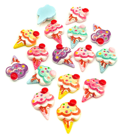 ice cream creams ice-cream resin fb flat back fbs fb uk craft supplies kawaii craft materials