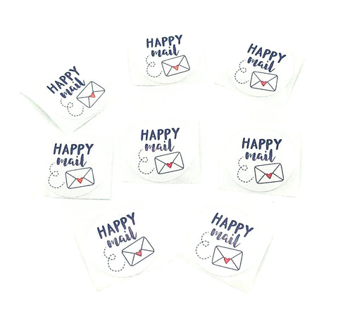happy mail post cute kawaii packing packaging stickers envelope seals stationery uk sticker