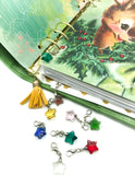 glass star planner clip stars charms clip on accessories