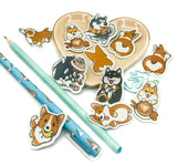 dog dogs husky corgi puppy sticker flakes kawaii stickers pack