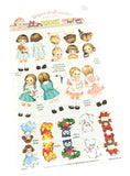 vintage childhood dolls girl girls toys style retro clear stickers sticker pack planner
