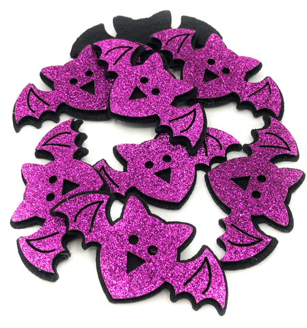 purple felt bat halloween patch applique bats 65mm sew glue on patches uk cute craft supplies