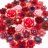 red reds colour themed flower flat back fb fbs bundle flowers