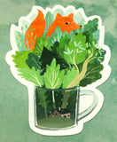 cute fox in leaves mug cute teacup postcard post card cards uk kawaii stationery store pretty animal animals