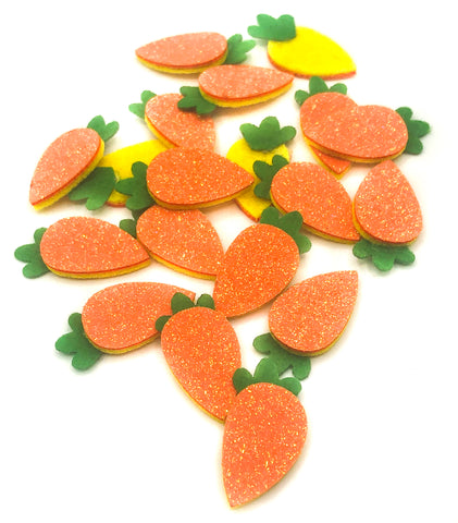 glitter carrot carrots applique felt patch appliques easter uk craft supplies 30mm
