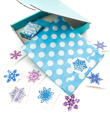Snowflakes Large Sticker Seals 38mm