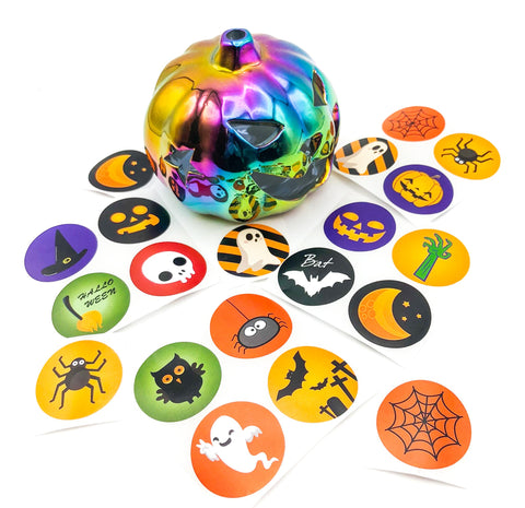 halloween large 38mm sticker seals apooky stickers uk cute kawaii stationery packing packaging supplies round seal