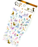 cat crystal puffy sticker pack stickers kawaii stationery 3d cats gold foil foiled deco uk cute kawaii stationery supplies