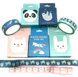 cute animal boxed 7m washi tape tapes kawaii stationery uk rex london cookie the white cat