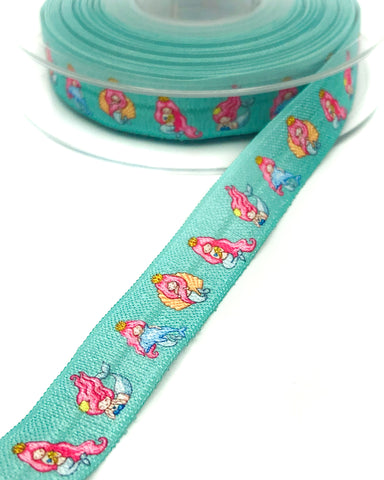 mermaid mermaids elastic foe ribbon ribbons kawaii cute craft supplies uk turquoise aqua