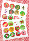 advent calendar calender stickers handmade make your own number sticker