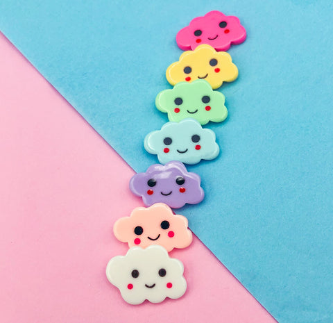 cute kawaii cloud clouds resin fb flat back flatback uk kawaii craft supplies fbs happy smiling face