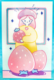 cute kawaii individual single postcard pretty cards post card bunny rabbit girl cat pastel uk stationery