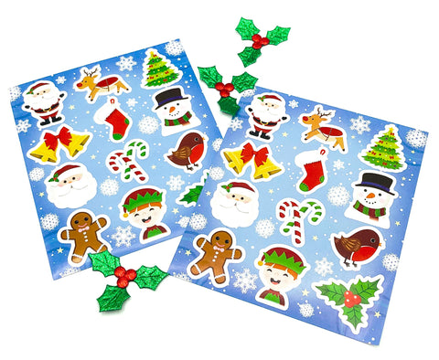 festive christmas kids childs childrens sticker sheet cute kawaii uk stationery stocking fillers gifts