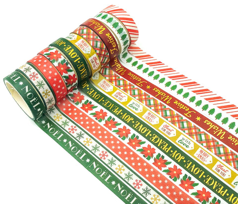 10mm washi tape tapes christmas festive red gold and green uk cute stationery supplies kawaii