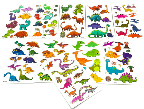 cute kids dino dinosaur dinosaurs temporary tattoo tattoos sheet fun gift gifts stocking fillers uk party bags