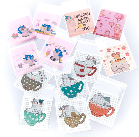 kawaii cellophane bag bags cello packing packaging supplies uk cute cat cats unicorn unicorns elephant