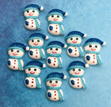 snowman snowmen resin flatback flat back fb fbs cute blue ab shimmer glitter glittery embellishments uk kawaii craft supplies