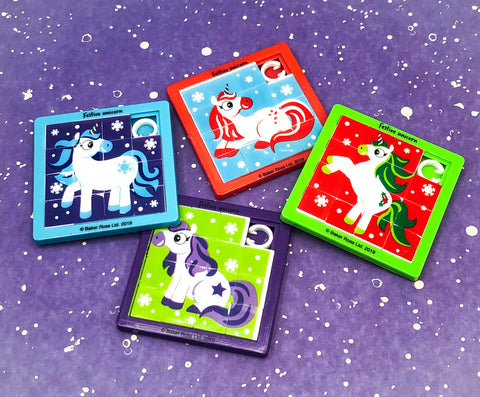sliding block puzzle cute christmas festive unicorn unicorns kids puzzles uk gift gifts toys games