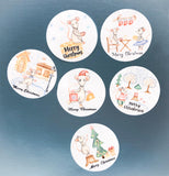 38mm large round mice mouse christmas stickers merry festive cute kawaii uk stationery packaging supplies