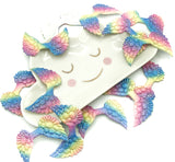 pastel rainbow ombre glitter angel wing applique 50mm wings