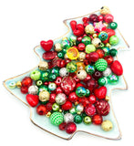 christmas bead beads bundle festive craft supplies uk kawaii cute gold red green and silver acrylic glass bundles